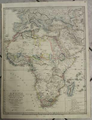 Africa Continent Nile's Sources Discovery 1873 James Wyld Unusual Antique Map