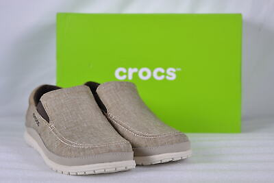 28fb827b5 MEN S CROCS SANTA Cruz Playa Slip Ons Khaki Stucco 8 -  16.50