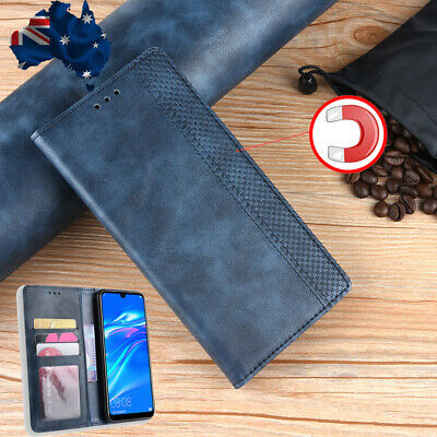 For Huawei Y9 Y7 Pro 2019 PU Leather Magnetic Wallet Case Card Slot Filp Cover