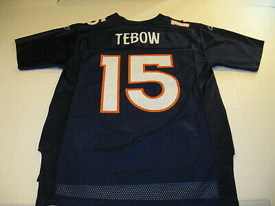 8f74d3e39 Tim Tebow Denver Broncos #15 Reebok NFL Football Jersey New! Youth MEDIUM  10 12