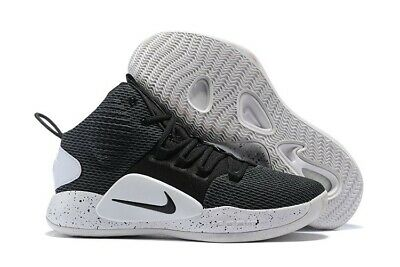 c22f51059a67 Nike Hyperdunk X Mid 2018 Men Basketball Shoes Size 8.5 Black And White