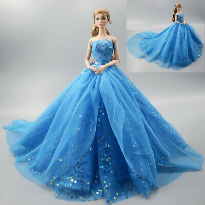 Fashion Princess Party Dress/Evening Clothes/Gown For 11.5 in. 12 inch Doll M16