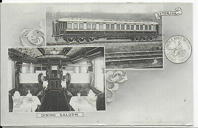 Postcard,london & North Western Railway,dining Saloon Carriage & Exterior,1904