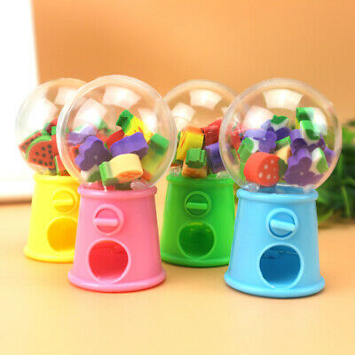 Cartoon Pencil Rubber Eraser Students Office Stationery Kid Gifts Capsule Toy