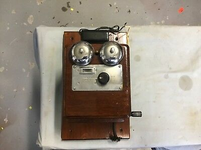 Vintage wall Mount telephone  junction station and bell (JS&B)