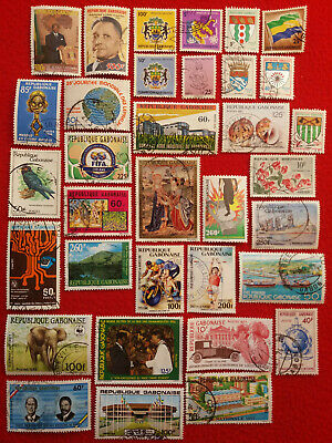 Lot Briefmarken Gabun gelaufen