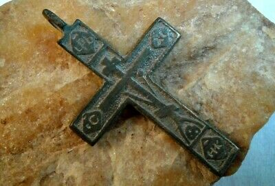 "RARE 17-18th CENT. ""OLD BELIEVERS"" ORTHODOX ""SKULL"" CROSS ""WEAPON AGAINST DEVIL"""