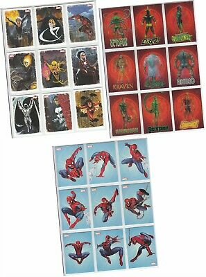 Spider-Man Archives - 3 Chase Sets - Allies, Rogues Gallery, Swinging - 27 Cards