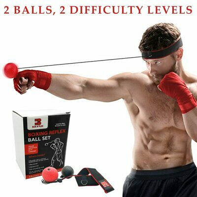 2 Punching Ball Headband For Reflex & Strength Training,Hand Wraps, Carryin Bag