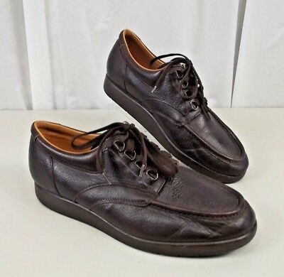 eab2a82d63 DREW Mens Brown Leather Shoes Sz 11 M Lace Up Brown Casual Orthopedic Lace  Up