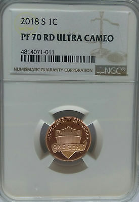NGC REGISTRY PF70 2018-S Proof LINCOLN Shield Cent Penny Top Grade Coin US Mint