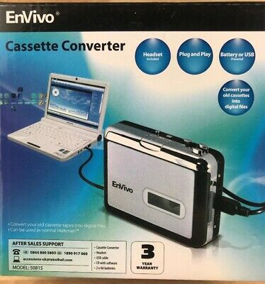 EnVivo Portable Cassette To MP3 Converter ~ Convert Cassette Tapes to MP3 / CD