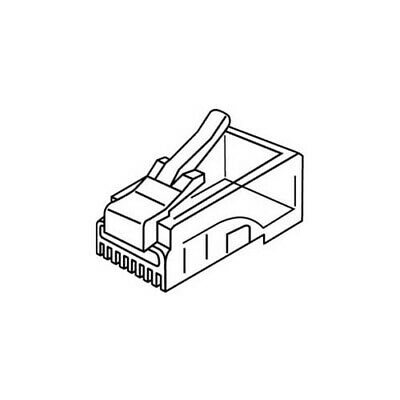 Platinum Tools 106128J RJ-12 (6P6C) Connector Flat-Stranded. 100/Jar.