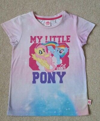 Girls lovely official my Little Pony Pink T-shirt in vgc 7-8Yrs dual design