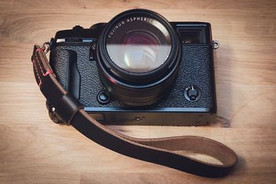 Leather Camera Wrist Strap.  Ideal for Fuji, Leica, Olympus, Sony cameras