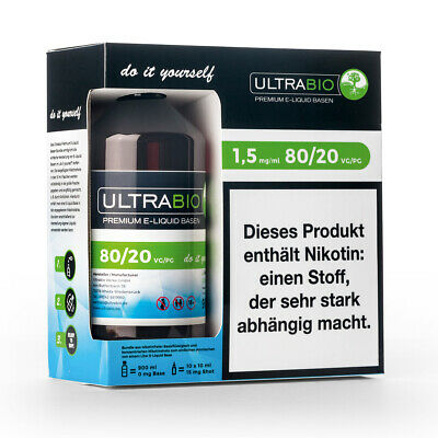 Ultrabio Basen Bundle VG 80 / PG 20 - 1,5 mg / 3 mg / 6 mg Nikotin e Liquid Base