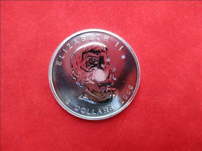 Canada 5$ Dollars de 2009 Maple Leaf 1 Once Once 999/1000 Argent Ag