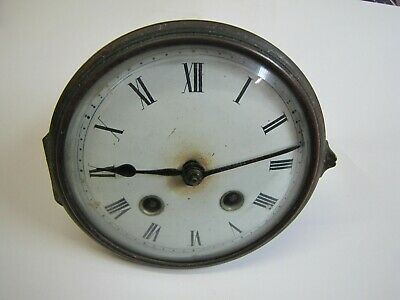 A German Striking Clock Movement with Round Plates