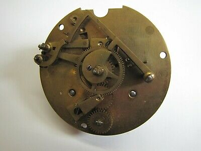 A Back Wind, Rear Handset, French Striking Clock Movement.