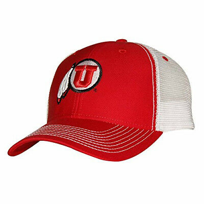 huge discount 028a6 be6d9 NCAA Utah Utes Sideline Cap, Adjustable Size, Red White Ouray Sportswear