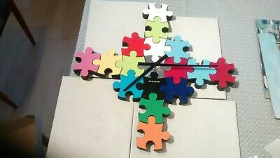 Karlsson Modern Designer Puzzle Jigsaw Wall Clock -17 Piece New and Boxed