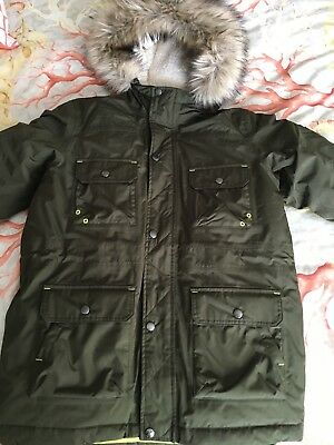 official store enjoy clearance price new authentic LANDS END EXPEDITION Boys Parka Goose Down Coat Waterproof Large 14-16