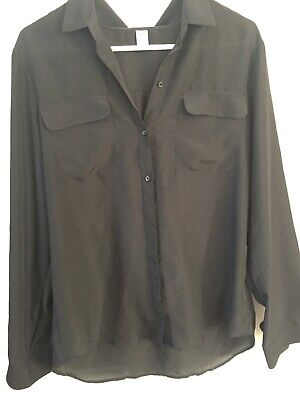 275ca44659ad64 OLD NAVY WOMENS Size Large Black Blouse Shirt Guc - $5.99   PicClick