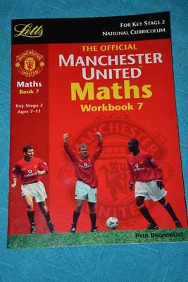 OFFICIAL Manchester United Maths Workbook 7 - Ages 7-11 Key Stage 2 New & Unused