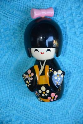"Japanese Kokeshi doll Wooden ""GEISHA GIRL"" Ornament -Collectable. Moveable Head"