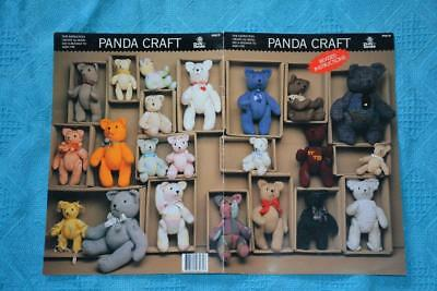 PANDA CRAFT #PT019. Teddy Bears KNITTING PATTERN. All Ply Wool =Various Sizes