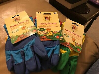 Childrens funky gardening gloves