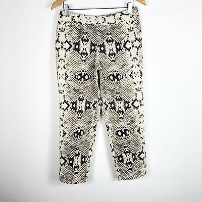 WORTHINGTON Women's Pants Slacks Trousers Snake Print Straight Leg Cropped 4