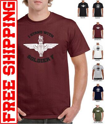 I Stand with Soldier F solidarity Airborne T-shirt Parachute paratrooper support