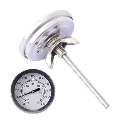 BBQ Smoker Grill Stainless Steel Thermometer Gauge Temp Barbecue Camping Cook