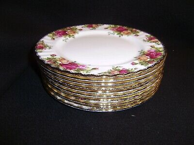 10 ROYAL ALBERT Old Country Roses 8 Inch Salad Plates MADE IN ENGLAND