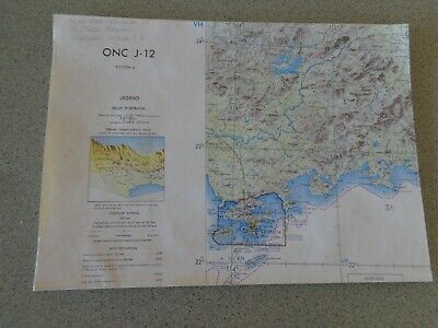 1967 Large Map ONC J-12 China Hong Kong Philippines new Territories Ryukyu Isle
