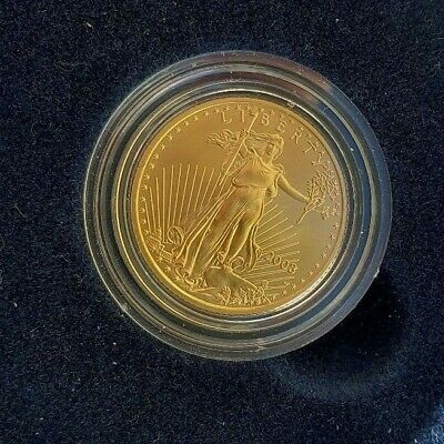 2008 W $10 Burnished Gold Eagle In Original Mint Packaging 1/4 Oz Key Date