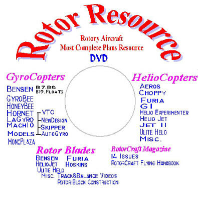 ROTOR RESOURCE Rotary Crafts Most Complete Plans & Info Resource.