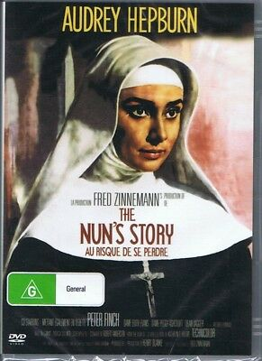 THE NUN'S STORY DVD Audrey Hepburn & Peter Finch NEW & SEALED Free Post