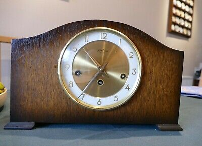 Bentima Mantle Clock with Westminster Chime. Full working condition See detail.