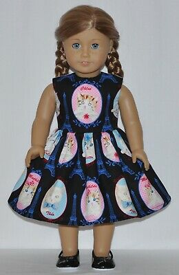 Black Cats In Paris Doll Dress Clothes Fits American Girl Dolls