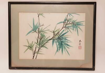 Chinese Painting of Bamboo By  Famous  Artist, Jiqian C.C. Wang, 20th C, Rare