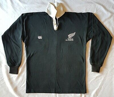All Blacks New Zealand VINTAGE Original Rugby Top Canterbury Long Sleeve Size 38