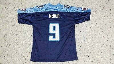 finest selection 1d3e6 12efa STEVE MCNAIR #9 Tennessee Titans NIKE Blue NFL Football Jersey Youth XL  18-20