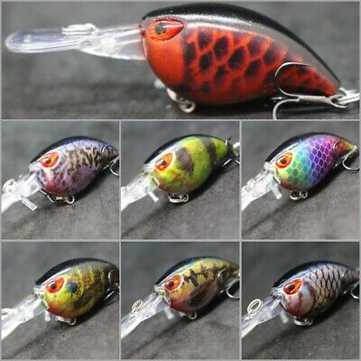wLure 3/16 oz Lifelike Tiny Crankbait Deep Diving Fishing Lure Hard Lures HC770