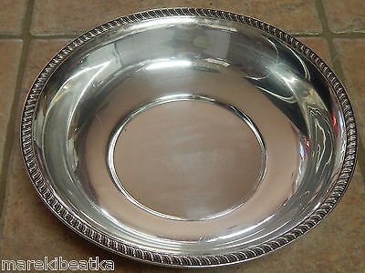 Antique Quaker Sterling Silver Lg Round Serving  Bowl