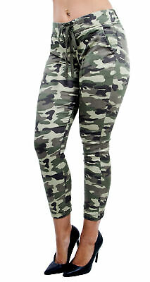 8d9bcc7b6c3a8 CG JEANS WOMEN'S Juniors Army Camo Camouflage Skinny Ladies Stretch ...