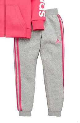 894ec46f1cad BNWOT adidas Younger Girls Hojo Tracksuit Bottoms Pants Joggers Pink 3 4  Years