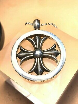 b639f9103f01 CHROME HEARTS CH Plus Cross Medallion Pendant. Sterling Silver 925 ...
