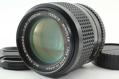 *NEAR MINT* Minolta MC TELE ROKKOR 100mm f/2.5 MF Lens for MC/MD #103